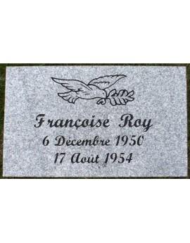 Plaque Funéraire en Granit #016