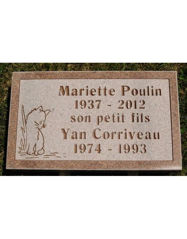 Granit Memorial Plaques #027