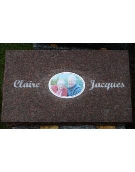 Plaque Funéraire en Granit #033